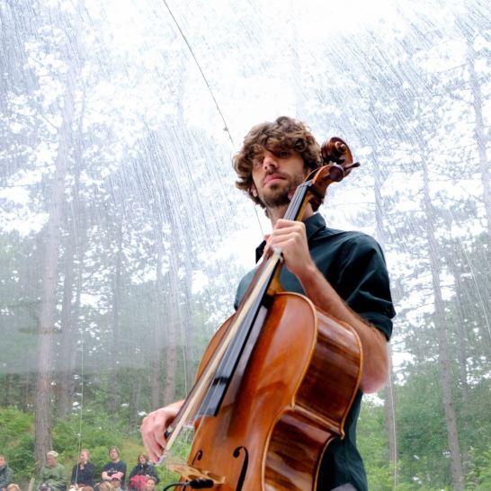 "Cellist in ""The Bubble"""