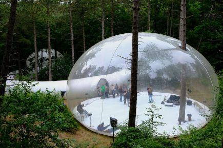 Zicht op de Bubble na de voorstelling
